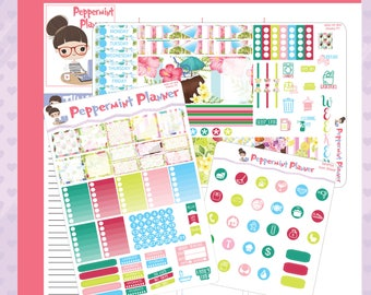 Mini H Summer Drinks Weekly Set, Page 2, and Icon Set Planner stickers #04