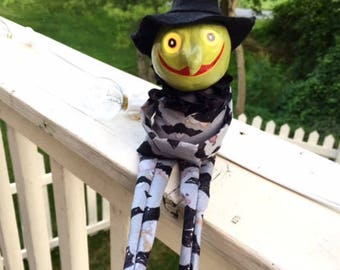 Vintage Inspired Witch Doll w/bat outfit