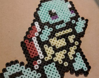 Squirtle fused beads keychain