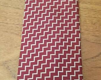 Genuine Vintage 70s LANVIN New York Paris Zig-Zag Print 100% Silk Wide Neck Tie