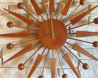 Maple Starburst ball clock