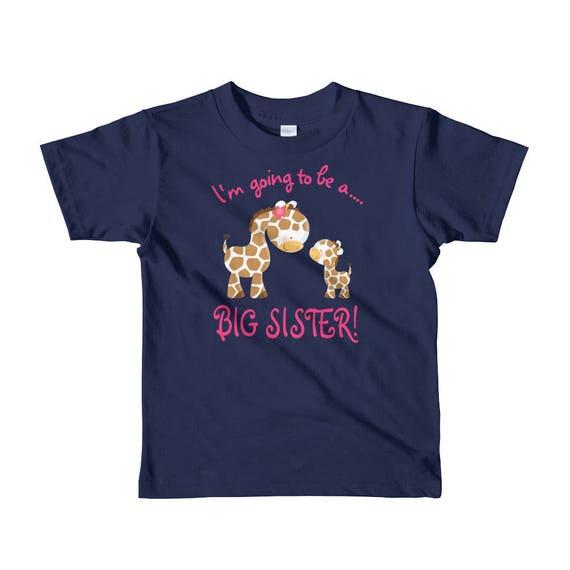 I'm Going to be a Big Sister, Cute Giraffes Big Sister Short sleeve kids t-shirt
