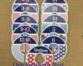 Baseball theme Closet Dividers, Baby Shower Gift, Newborn Baby Gift, For any age: Infant, Baby, Toddler, Youth, or adult size dividers.