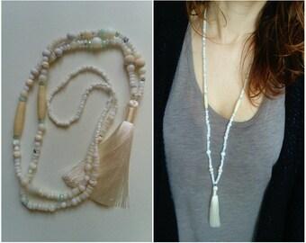 """Creamy white """"mala"""" necklace"""