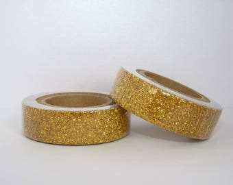 Washi tape Glitter Washi Tape - glitter - gold metallic powder