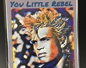 Billy Idol Original Art Print/Card