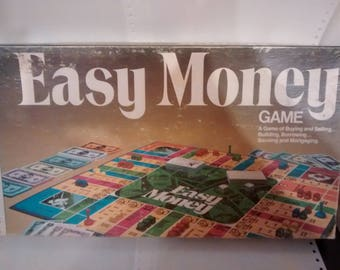 Vintage  Easy Money board game 4620 Milton Bradley 1974 Complete