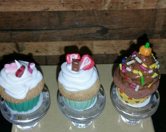 Cupcake Wine Bottle Stoppers