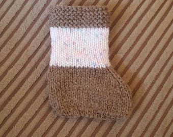 Handmade Cookie Coloured Stocking