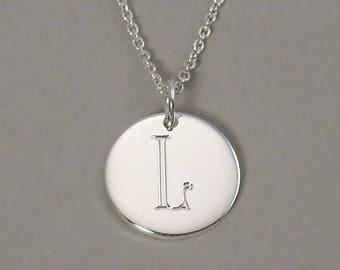 Letter l necklace etsy mozeypictures Choice Image