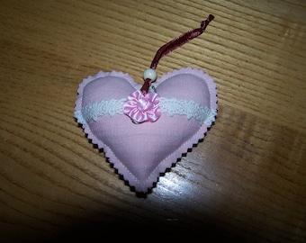 pink heart Valentine's day, romantic cushion shape