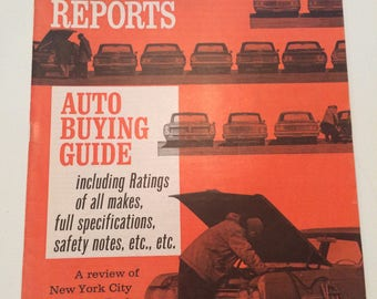 Vintage Consumer Reports Auto Edition 1964