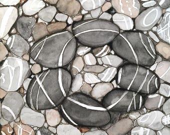 The wishing stones postcard