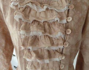 Coat Baroque sheath dress Edwardian style lace ruffles wedding Theatre Lane jacket frock coat Ewa I Walla