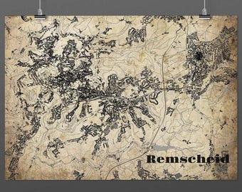 Remscheid DIN A4 / DIN A3 - print - turquoise