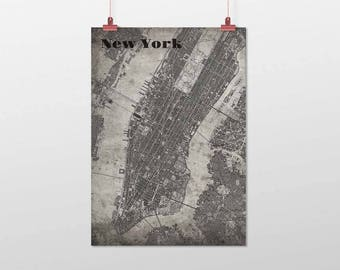 New YORK-Din A4/DIN A3-print-old-school