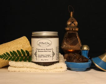 The hammam eucalyptus SOAP. Moroccan black SOAP beldi SOAP. Handmade vegan anti-aging Exfoliating. Home spa