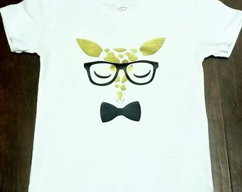 Animal Face T Shirt / Kids Animal Shirt / Custom Animal / Custom Name / Custom Color Birthday Gift Shirt
