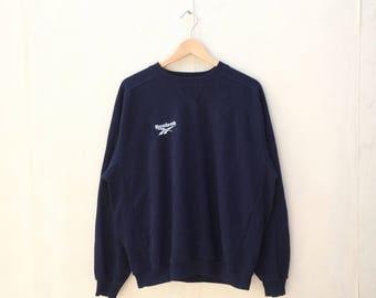 Vintage REEBOK Large Sweatshirt / Jumper / Pullover / Hoodie