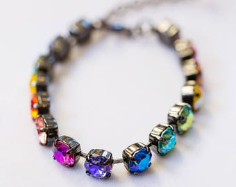 Swarovski Care Bears Rainbow Bracelet- Black