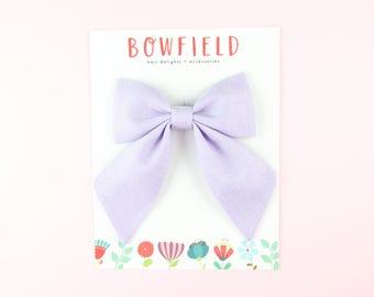 Lavender Sailor Bow | Lilac Hair Bow | Summer Hair Bow | Hand Sewn Bow