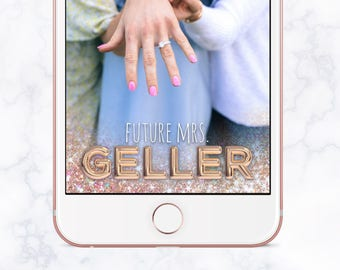 Future Mrs. Bridal Shower Snapchat Filter, Bridal Shower Snapchat Geofilter, Bridal Shower Snap Chat, Bridal Shower Geofilter, Gold Balloons