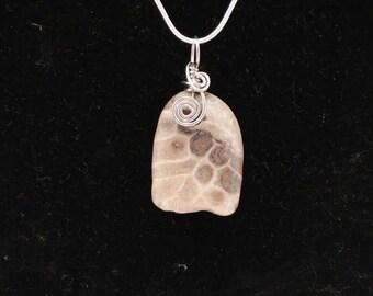 Petoskey swirl pendant