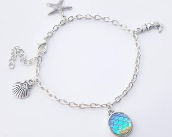 Mermaid charm bracelet