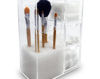 Ikee Design Acrylic Makeup Brush Holder & Cosmetic Organizer (SKU# COM1703)