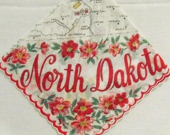 North Dakota State hankie 1950's