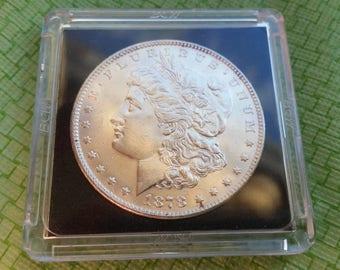1878 Morgan Silver dollar,  uncirculated  #J892B sharp  looking US coin