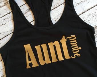 Aunt Squad Tank, Aunt Squad Shirt, Aunt Squad, Pregnancy Announcement Tank, Aunt Gift, Best Aunt