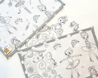Noble Cubs Colouring Mat Mash-ups Add on - Ballet/ Paisley