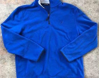 Men's Nautica Blue Fleece Zip Up