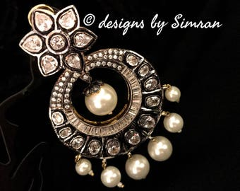 Antique Victorian Chandbali Earrings
