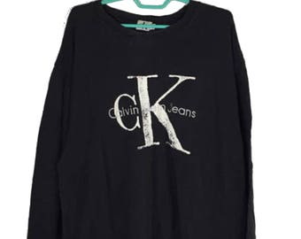 Calvin Klein big spellout logo sweatshirt / CK Jeans / CK Vintage