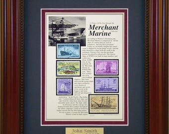 Merchant Marine 5582 - Personalized Framed Collectible (A Great Gift Idea)