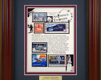 Aerospace Engineer 4612 - Personalized Framed Collectible (A Great Gift Idea)