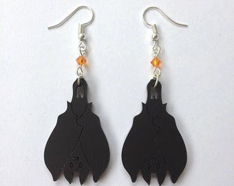 Gothic Sleeping Bat Earrings- ONE LEFT