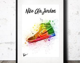 Nike Air Jordan 1 Print a4 Bred Black Red Banned Royal Black Toes Shadow OG Sneaker gift