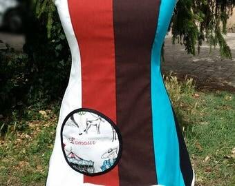 42 44 multicolored designer tunic