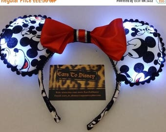 Summer Sale LIGHT UP Mickey Mouse inspired Ears