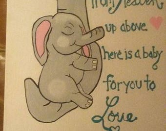 """Baby Elephant """"Straight from Heaven."""""""