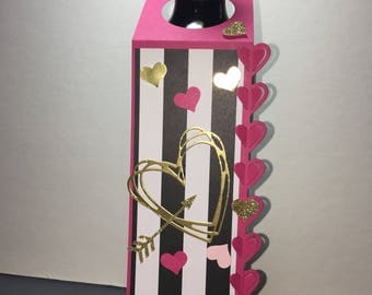 Valentine's Love wine tag 2 ct