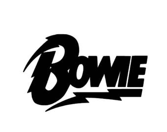 David Bowie vinyl decal sticker