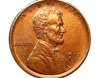 1915 D Lincoln Wheat Cent - Choice BU / MS / UNC