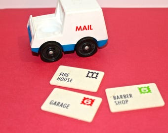Fisher Price Little People Mail Truck with three Letters