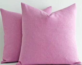All Size CUSTOM MADE Lilac Linen Pillow, Linen Bedding, linen pillowcase, linen pillowcases, linen pillow case, pillowcase, linen pillow