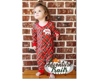 Infant romper, Infant bear pajamas.  Matching Family PJ's, Bear family pajamas, Christmas Pajamas, newborn matching pajamas, bodysuit