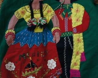 Vintage Mexican Folk Art Wool Jacket